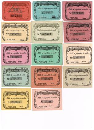 Títulos Portugueses de 1946 a 1959