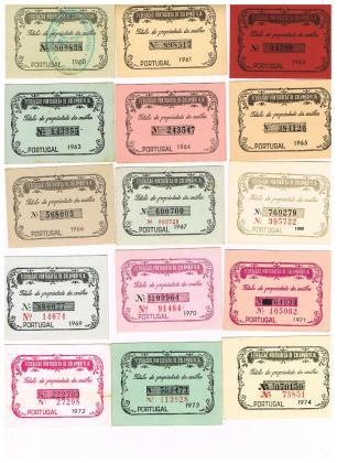 Títulos Portugueses de 1960 a 1974